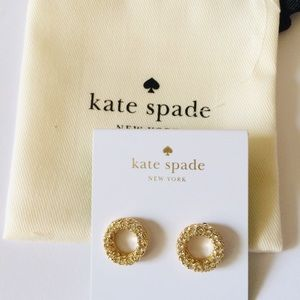 New Kate Spade platform chain studs